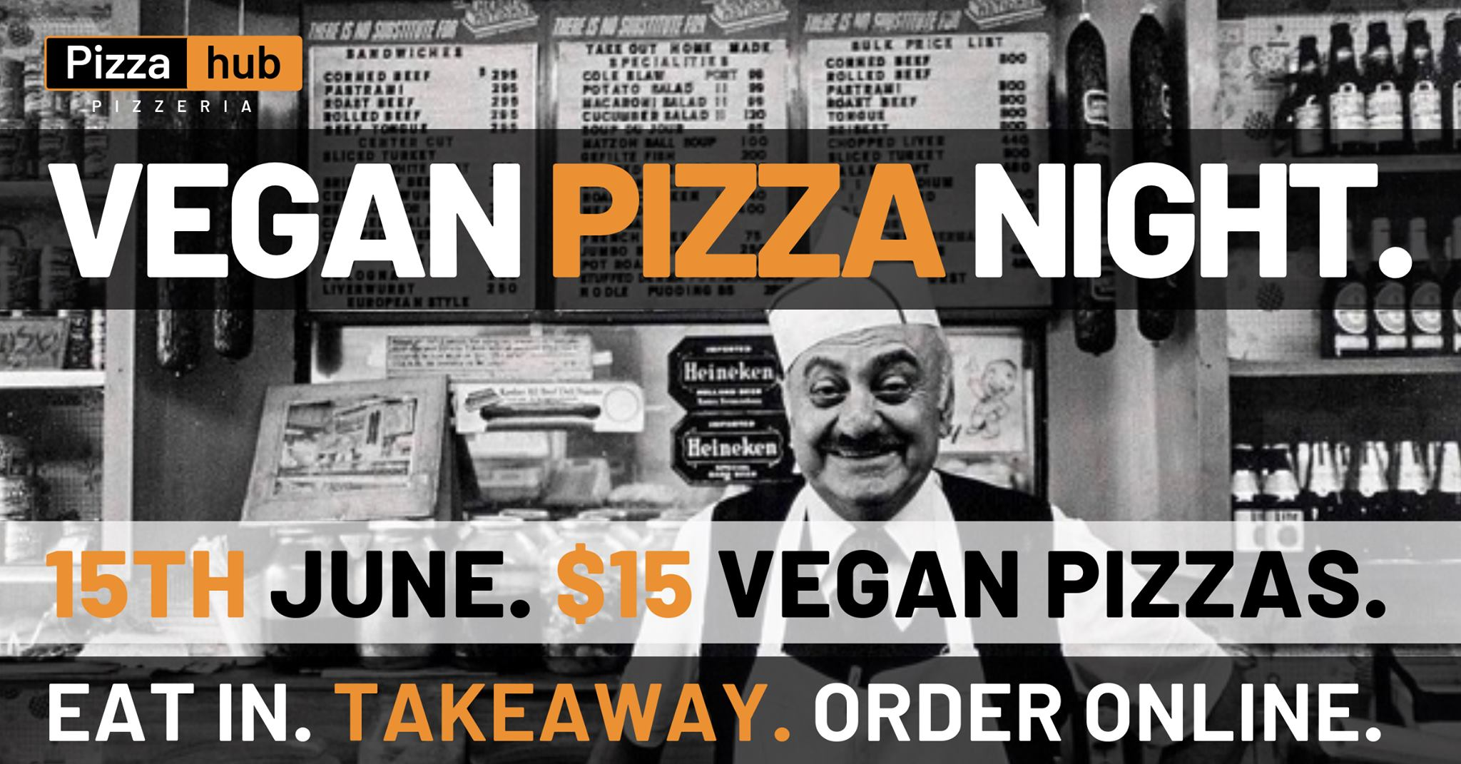 $15 Vegan Pizza All Day